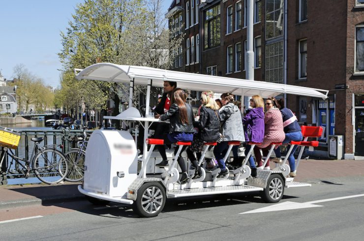 beer bike amsterdam