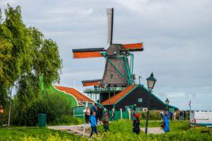 dutch windmills countryside