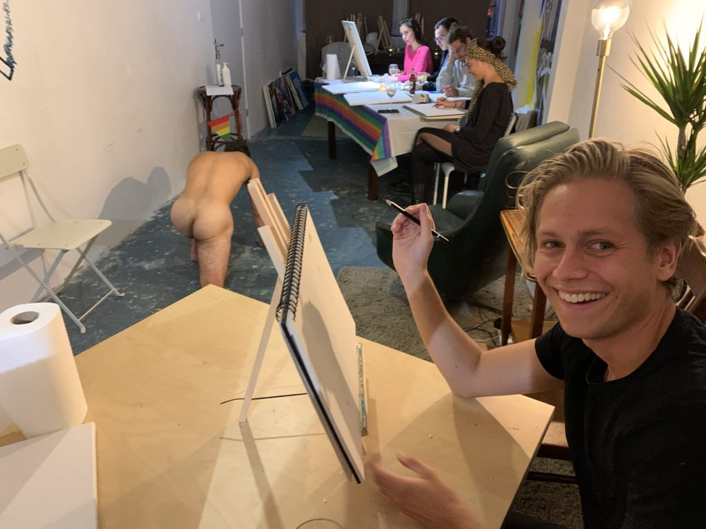 naked painting