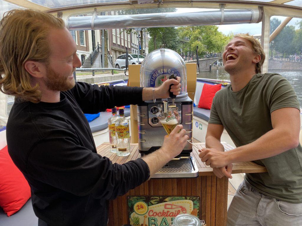 Amsterdam beer boat